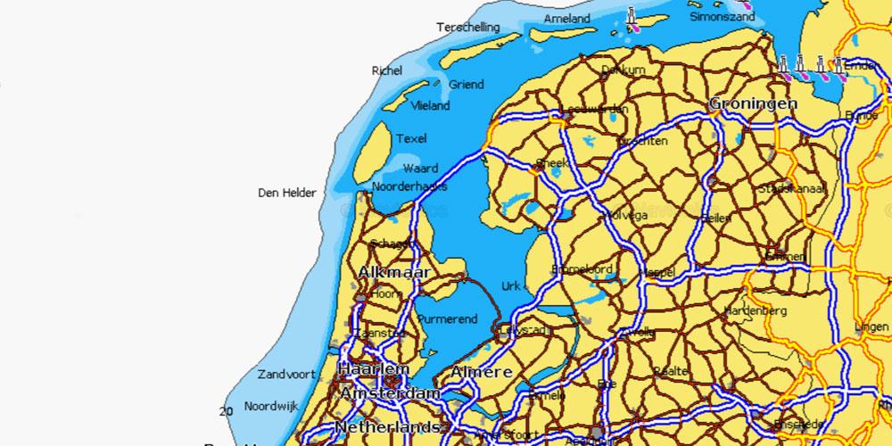Karte Nordseeküste Holland.Holland Rund Abwechslung Pur Beim Segeln Und Chartern Blauwasser De