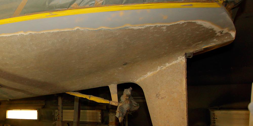 Hervorragend Osmose bei GFK-Yachten. Erkennung, Beseitigung, Reparatur TT36